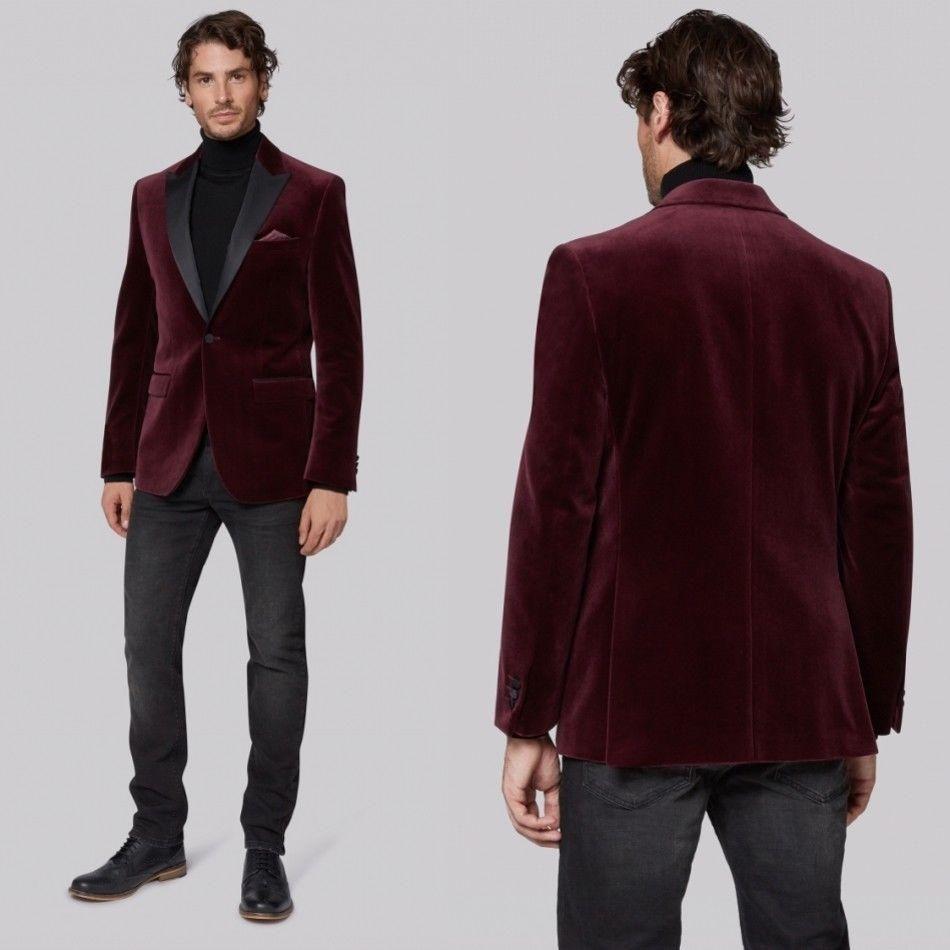 Burgundy Suit Jacket Black Pants