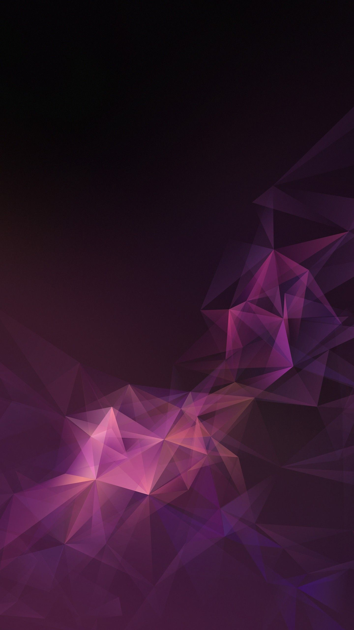 Abstract Pink Lowpoly Abstract Samsung Galaxy S9 Stock