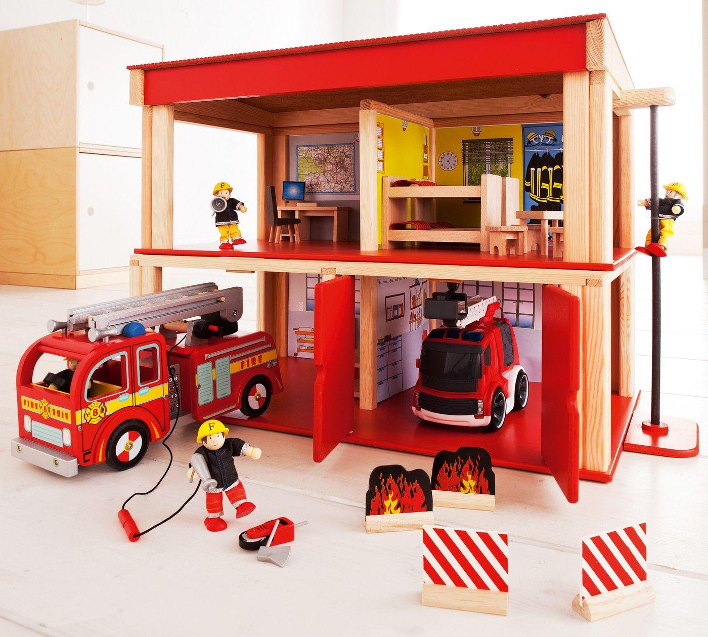 Feuerwehrhaus 2 Räume Spielzeug Im Jako O Online Shop