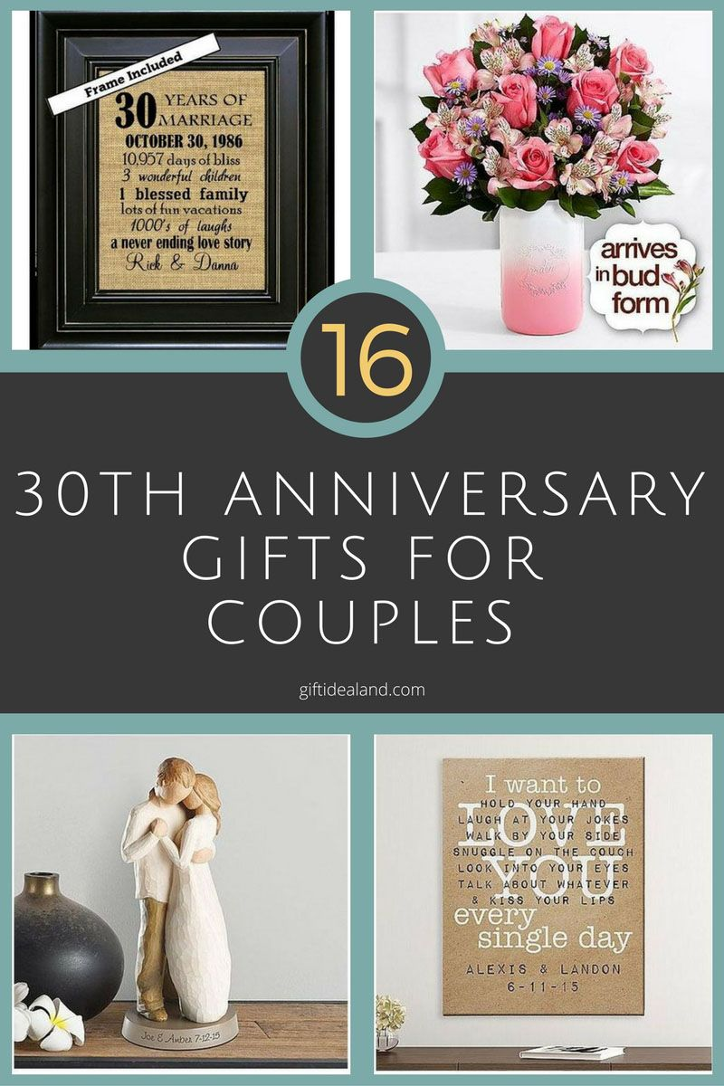 16 Best 30th Anniversary Gifts For S Husband Wife Him Her