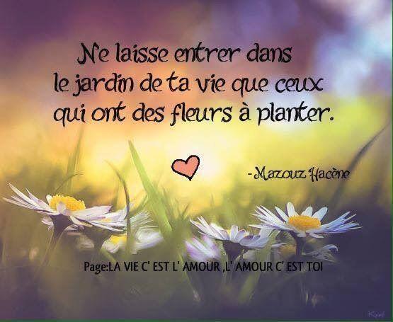 N\'ouvre ton jardin qu\'a ceux qui ont des fleurs à planter ...