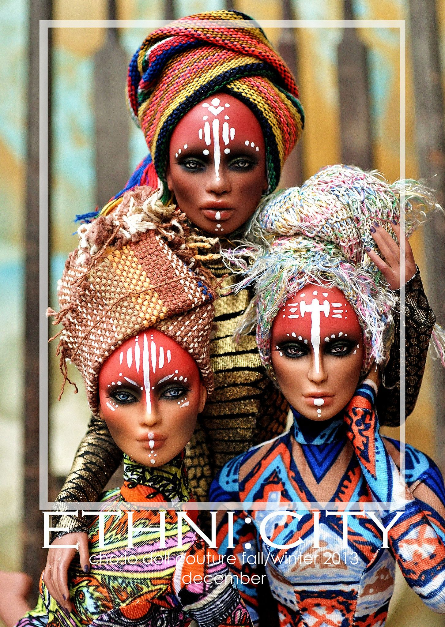 Numina for EthniCity Tribal makeup, African face paint