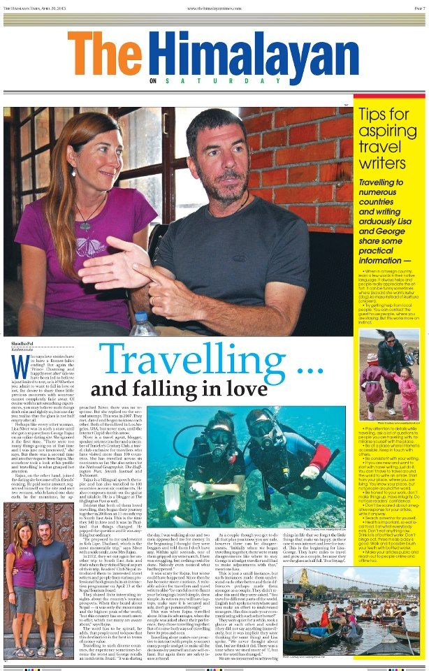 Lisa & George talk about travel - The Himalayan Times ...