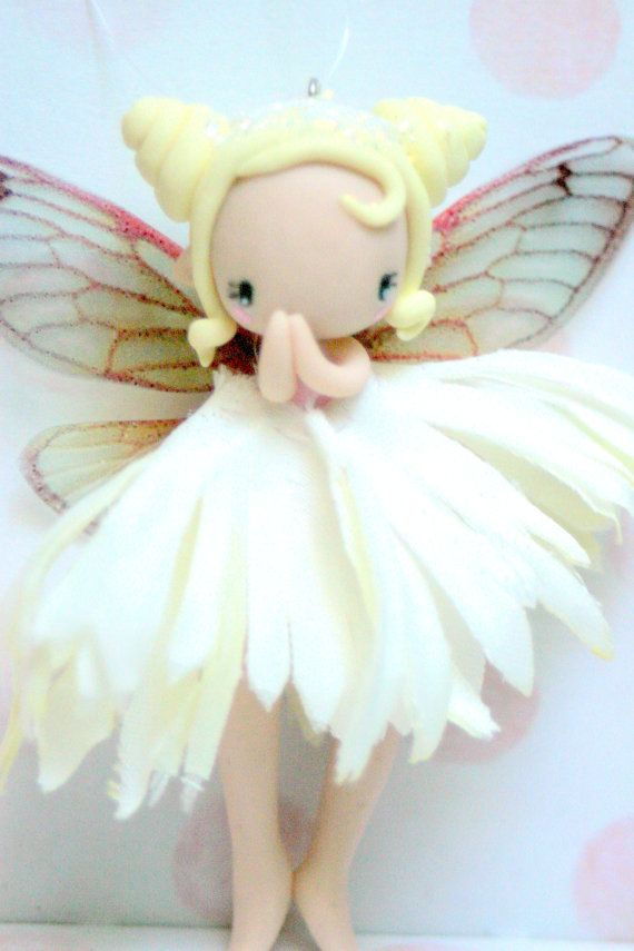 Spring Fairy Figurine ornament by TheDollAndThePea on Etsy