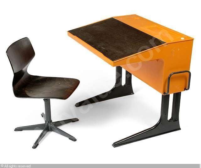 Flötotto Schreibtisch orange  - design mobel leuchten kevin michael burns