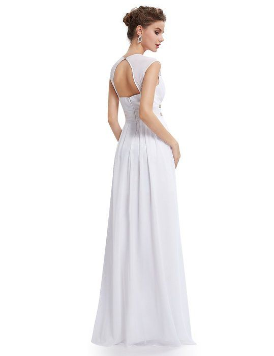 Ever Pretty Damen Elegant V-Ausschnitt Ärmellos Lang Abendkleid 44 ...