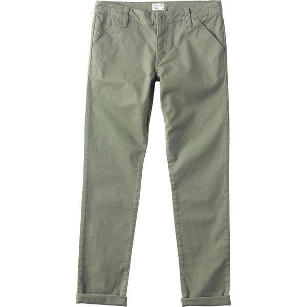 RVCA Women's Uplander Chino Pants (3.390 RUB) ❤ liked on Polyvore