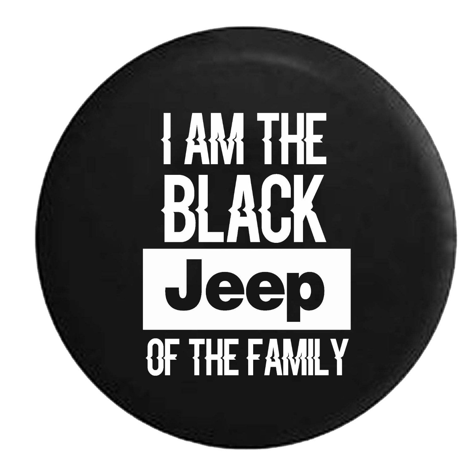 Amazon Com Black Jeep Of The Family Spare Tire Cover Oem Vinyl