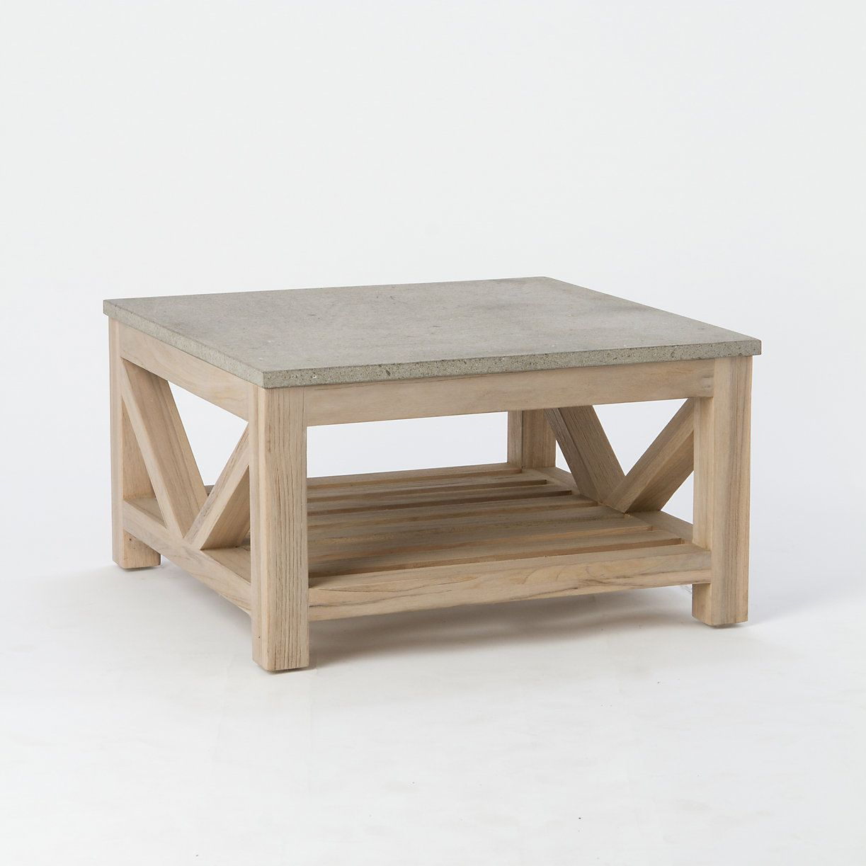 Wonderful Topped With A Square Of Polished Blue Stone, This Square Coffee Table Is  Crafted Exclusively For Terrain From Weather Resistant Teak With An Instant  G