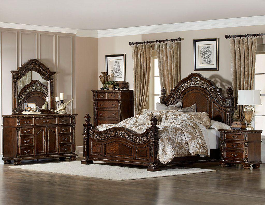 Old World Elegant Master Bedroom Set Elegant Master Bedroom