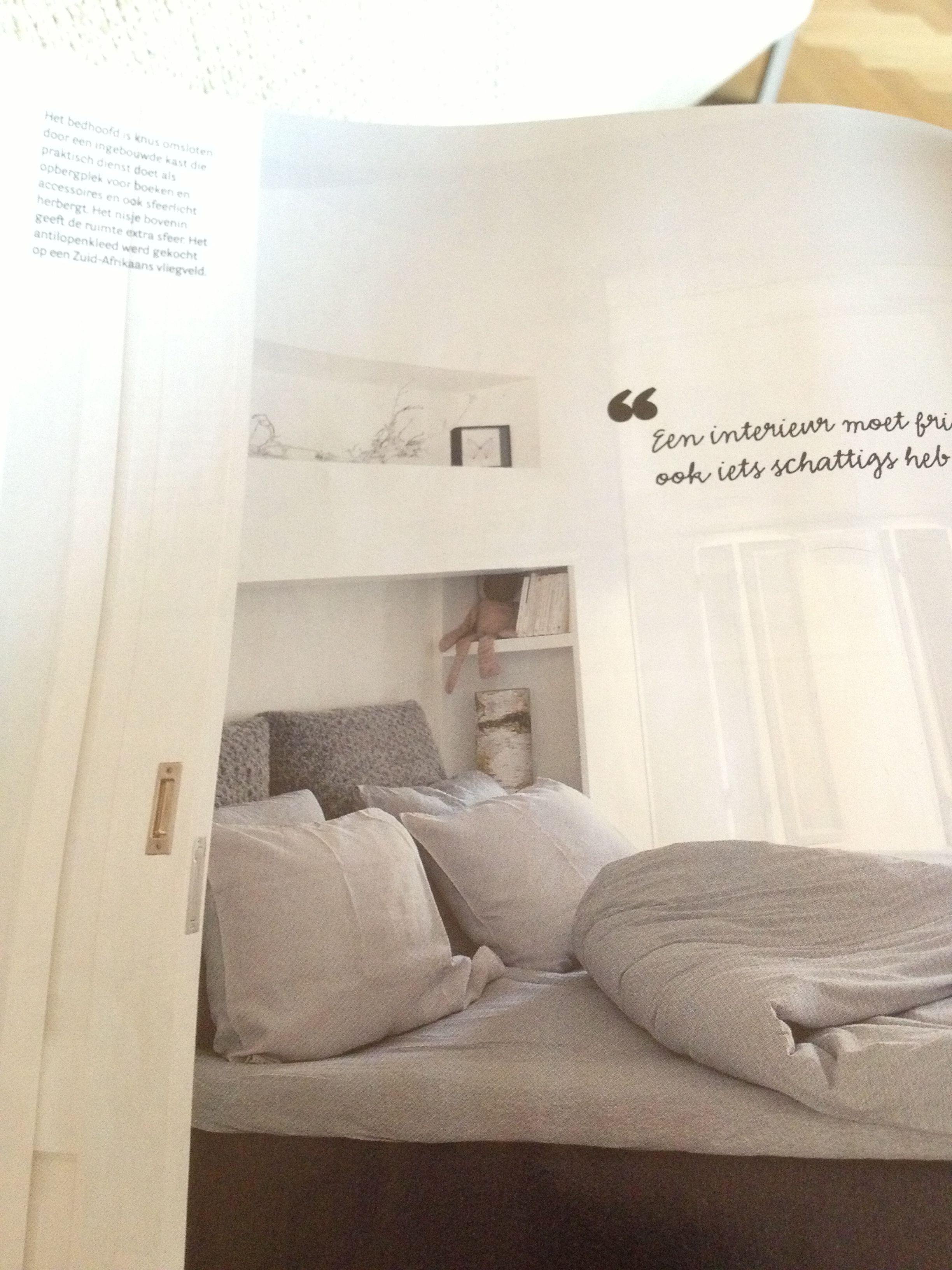 Kast Met Nisjes : Bedhoofd met ingebouwde kast zolder master bedroom pinterest met