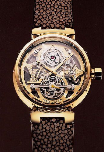a1999951d2fd Louis Vuitton Tourbillon Tambour Monogram Idk why but this reminds me of  the Illuminati symbol.