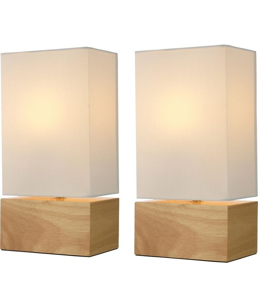 Buy pair of light wood finish table lamps cream at argos buy pair of light wood finish table lamps cream at argos geotapseo Image collections