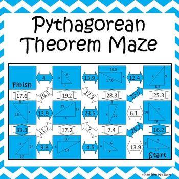 pythagorean theorem maze see more best ideas about pythagorean theorem. Black Bedroom Furniture Sets. Home Design Ideas