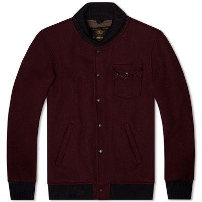 7a1314915aa3f Fidelity Wool Military Baseball Jacket (Maroon) | Coats & Jackets ...