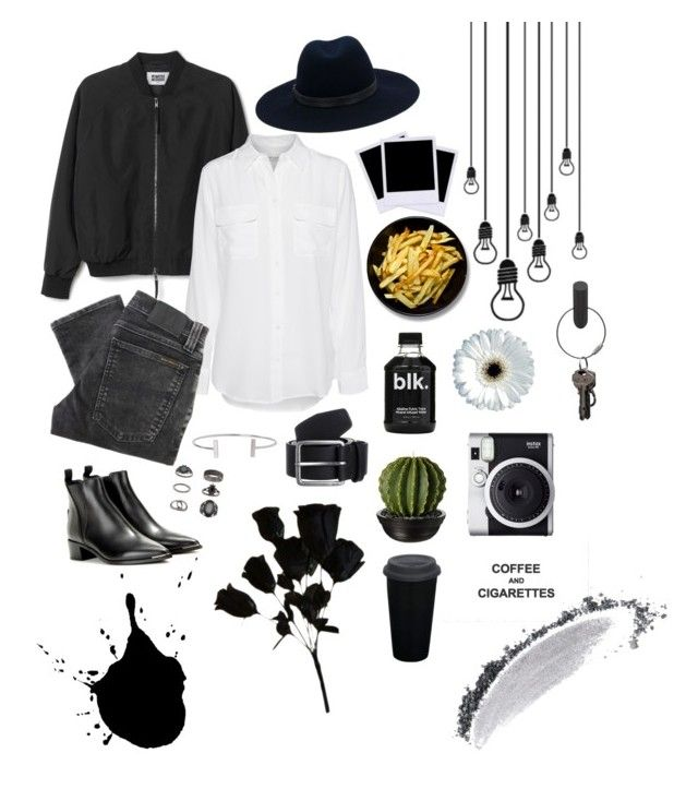 """c&c"" by po-lee on Polyvore featuring Equipment, Nudie Jeans Co., rag & bone, Acne Studios, Polaroid, NARS Cosmetics, Humble Chic, Topshop, Fuji and PA Design"