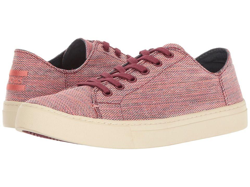 09962baec TOMS Lenox Sneaker Women s Lace up casual Shoes Pomegranate Woven Melange
