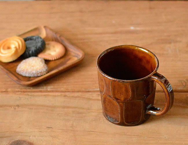 アメソギのマグ table wear mugcup Japanese heritage amber