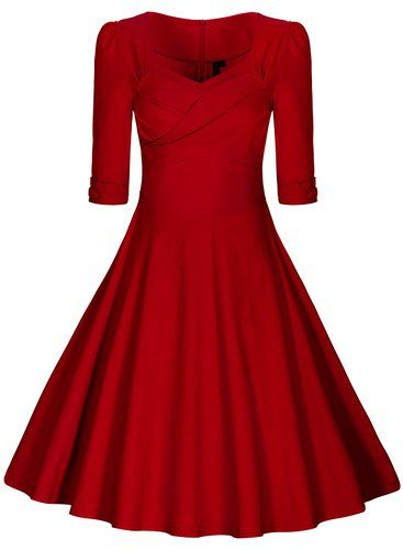 Miusol® Damen Elegant Kurzarm Business Rockabilly Cocktailkleid ...