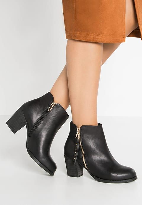 H I S Ankle Boot Black Zalando Pl Black Ankle Boots Boots Ankle Boot
