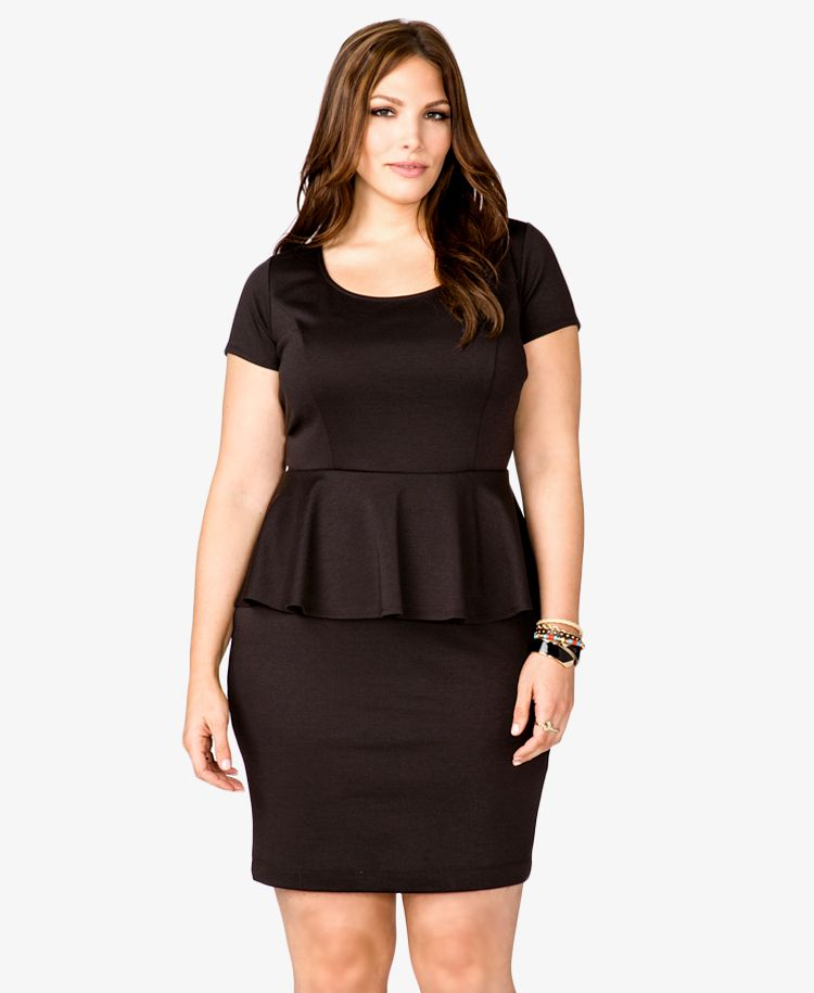 Classic Beauty Peplum Dress Forever21 Plus 2024930521 Size Xl