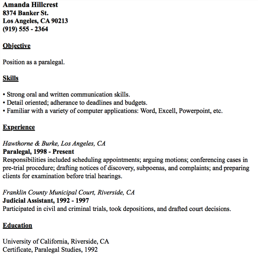 example of paralegal resume http resumesdesign com example of