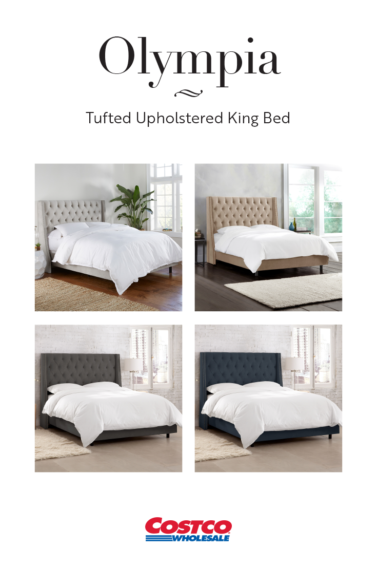 The Olympia upholstered bed brings hotel luxury to your