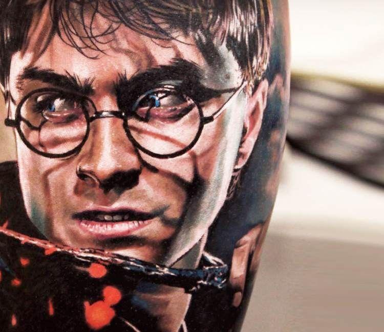 Harry Potter Tattoo By Michael Taguet Post 21096 Tattoos Harry Potter Portrait