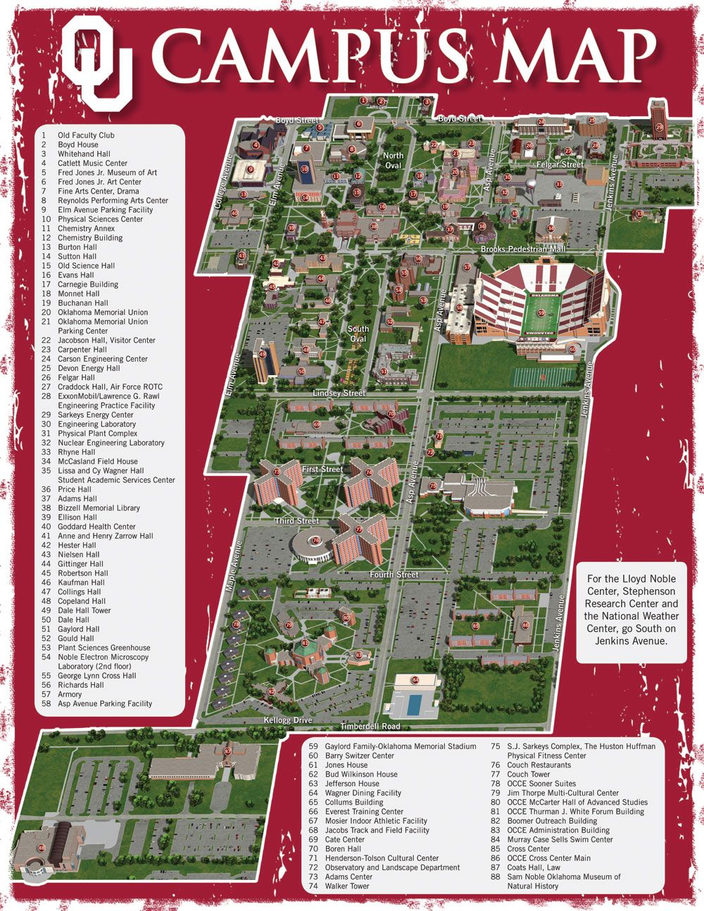 Mid Pacific Institute Campus Map.Ou Campus Oklahoma Pinterest Oklahoma Campus Map And Football