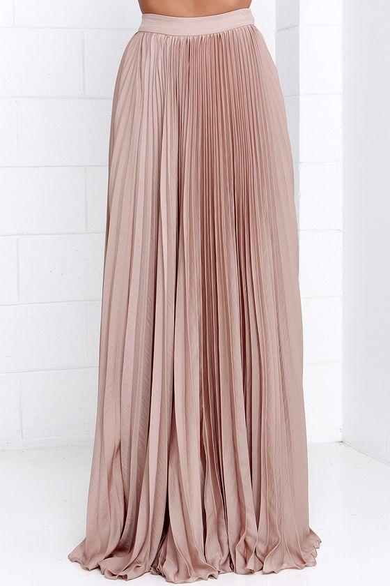 3115e6aa7 Back in a Minute Beige Maxi Skirt | Patrones de costura | Faldas ...