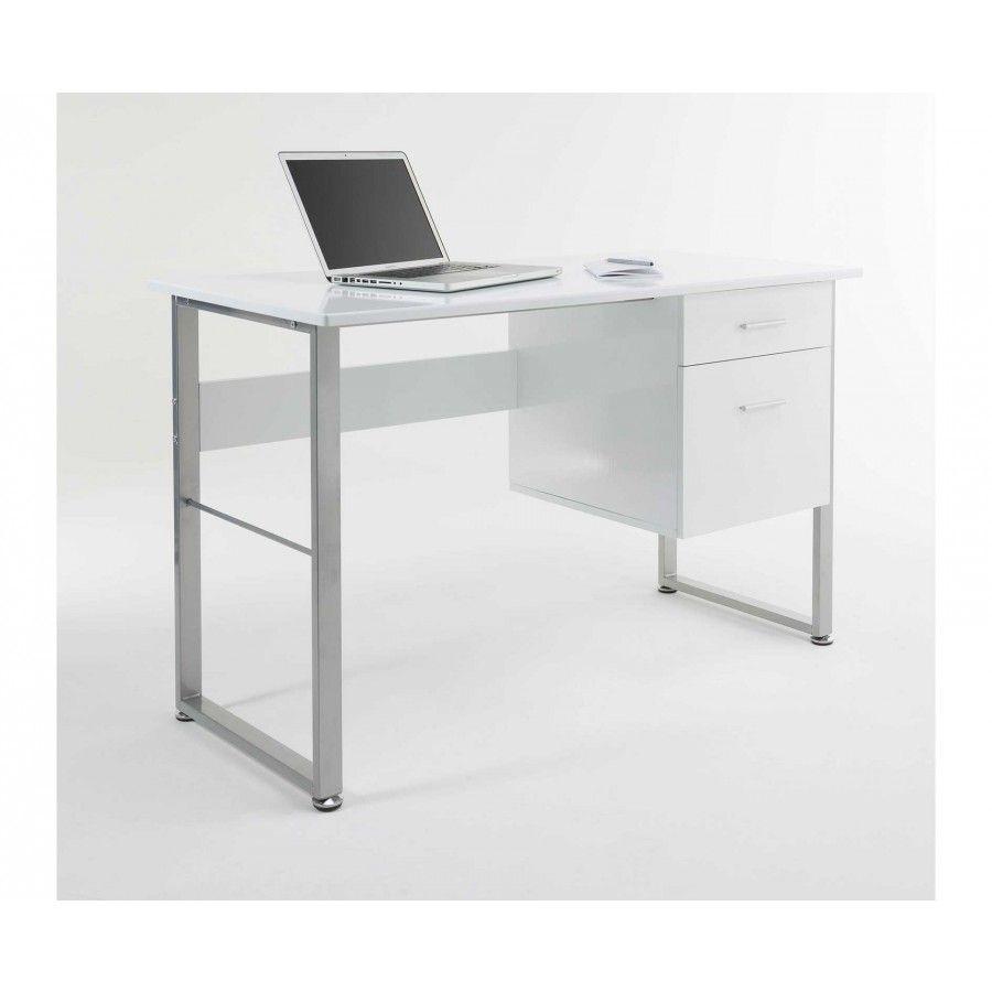 Alphason Cabrini Modern Desk White Modern Desk White Desks