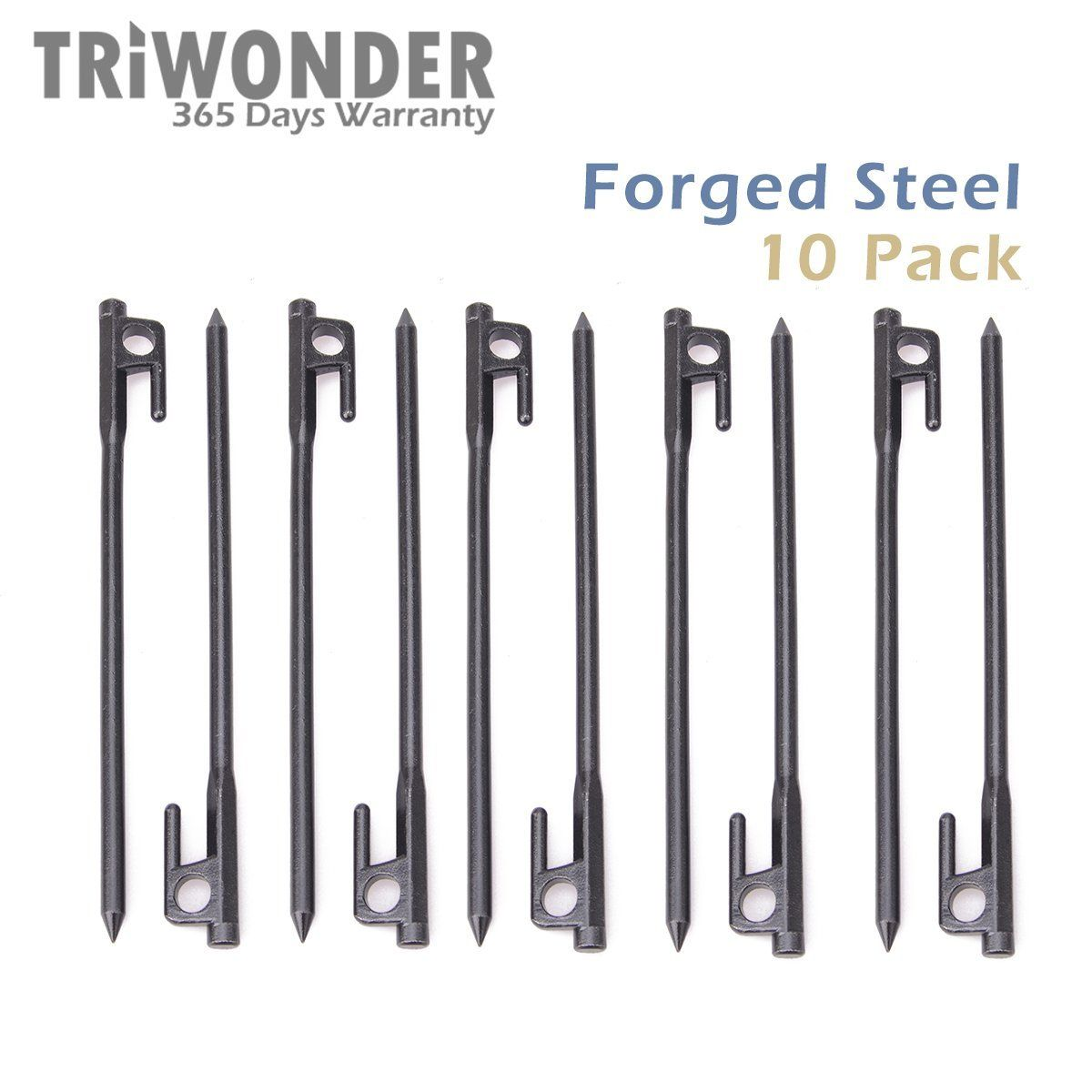 Triwonder 10 Pack Burly Forged Steel Tent Stakes Solid Stakes Footprint Casting Pegs ***  sc 1 st  Pinterest & Triwonder 10 Pack Burly Forged Steel Tent Stakes Solid Stakes ...