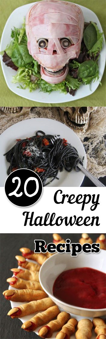 20 Creepy Halloween Recipes Halloween halloween, Halloween parties - spooky food ideas for halloween