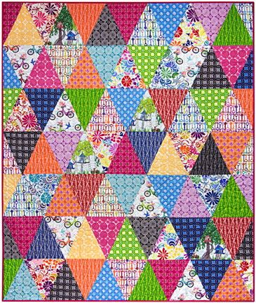 3 times around quilt kit with ashton road fabric by valori