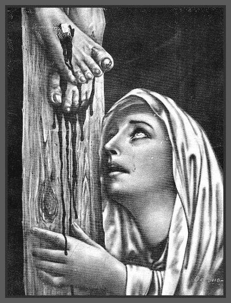 Painting Of Mary Crying At The Foot Of The Cross Mary At The Cross