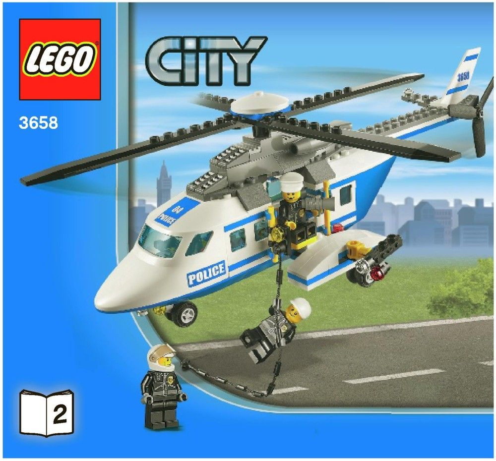 City Police Helicopter Lego 3658 Lego Instruction Pinterest