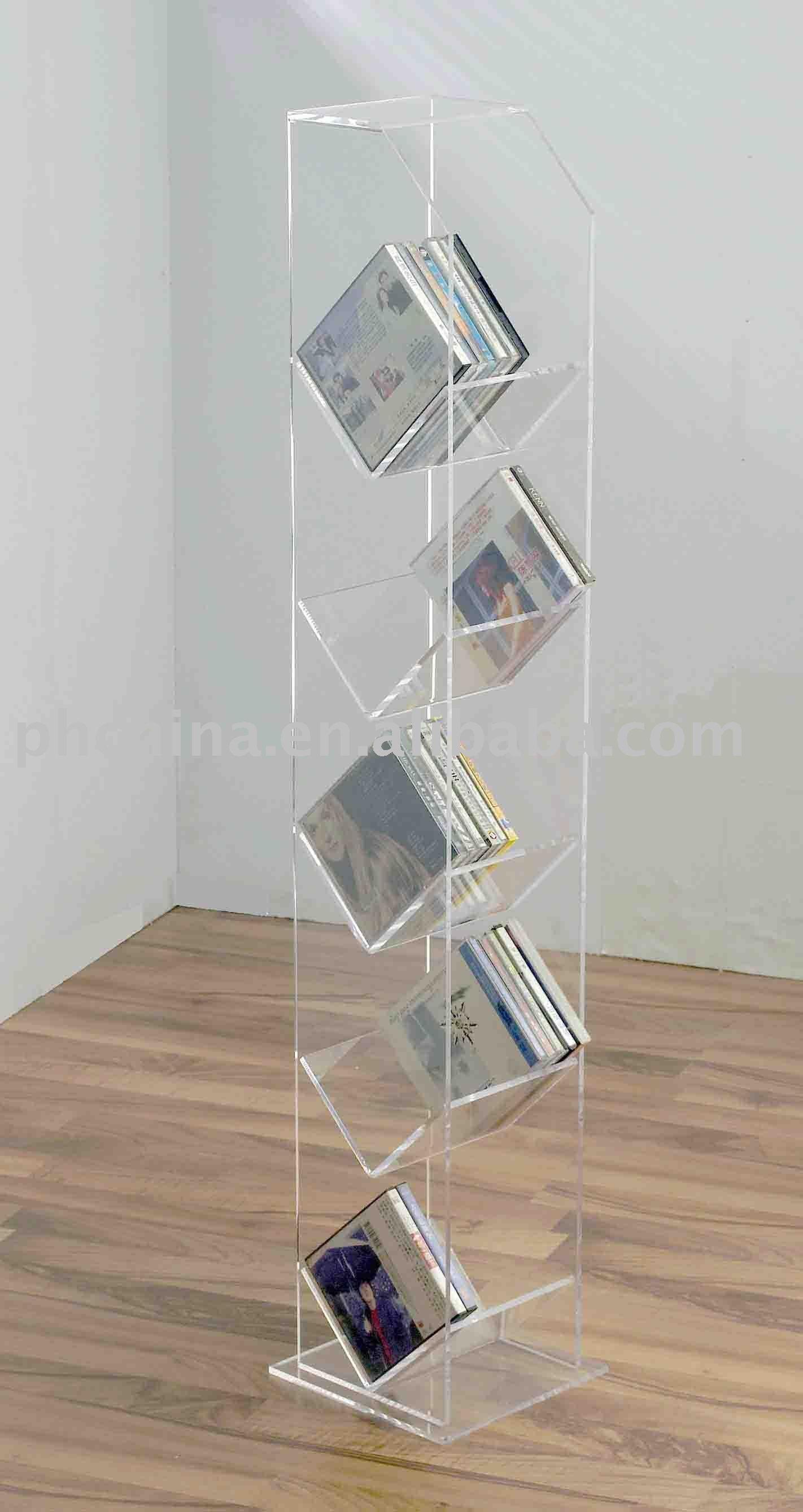 acrylic floor standing cd rack acrylic cd holder acrylic cd
