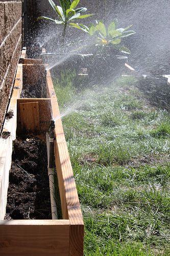 Diy Installing Sprinklers When Growing Grass On Concrete Sprinkler Installation Growing Grass Planters