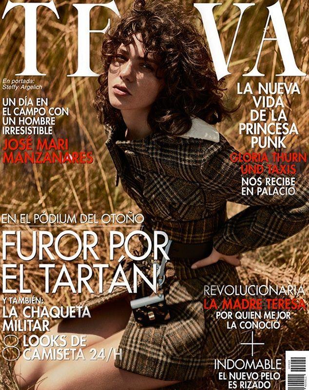 Steffy Argelich pose on TELVA Magazine September 2016 Cover