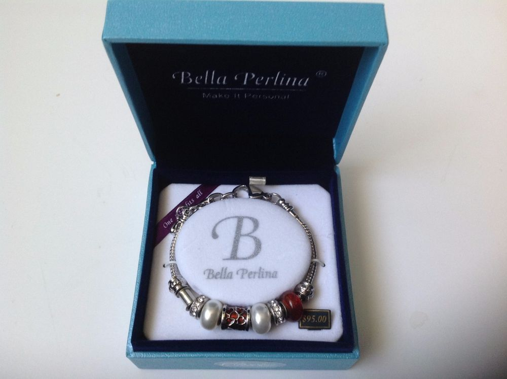 Bella Perlina Classic European Charm Bracelet Wine Color #BellaPerlina #European