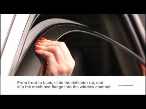 Let Fresh Air In While Keeping Rain Snow And Heat Out Of Your Vehicle Here Is A Video Showing You How To Install Window Deflectors Weather Tech Installation