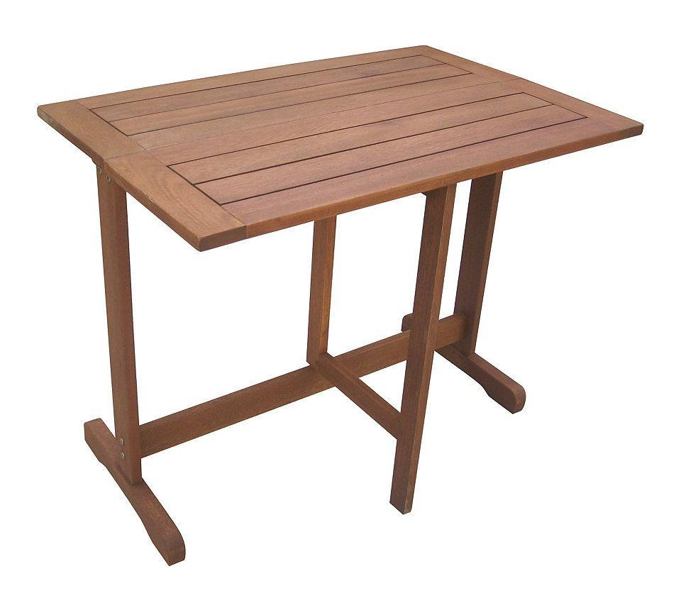 Gartentisch »Holz«, Eukalyptusholz, klappbar, 90x60 cm, braun Jetzt ...