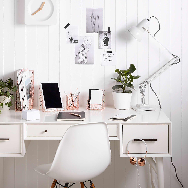 John Lewis Rose Gold Desk Tidy | Gold desk, Desk tidy and John lewis