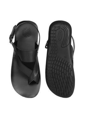 United Colors of Benetton Men Black Sandals  50c244b30ea1