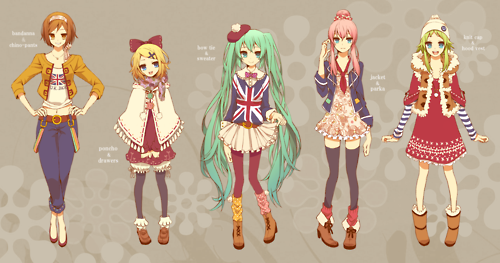 Vocaloid style.