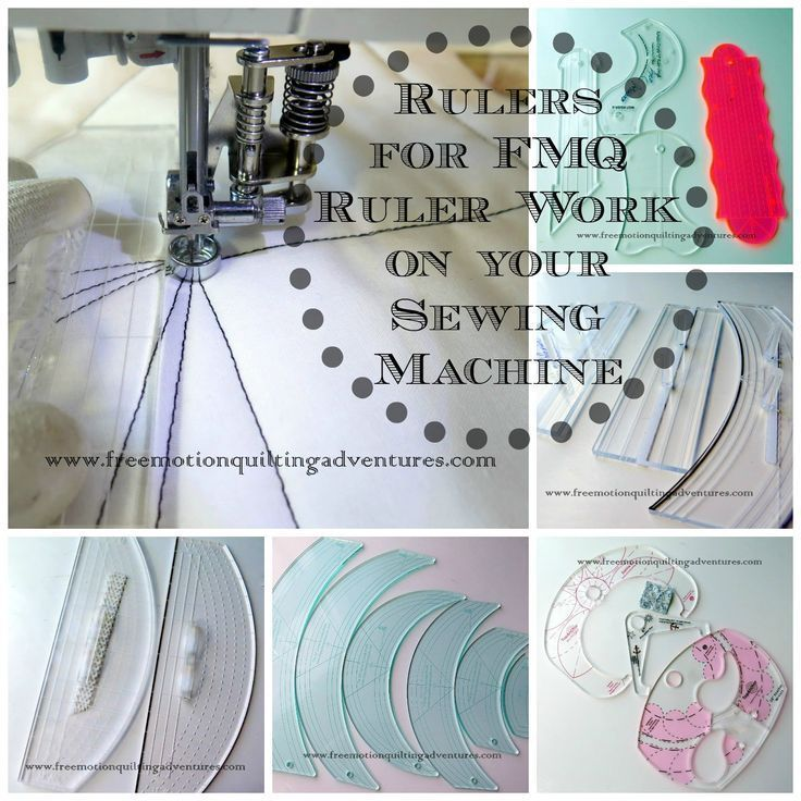 rulers to guide free motion quilting on a domestic machine is my signature technique. I didn't create the concept, rather I adapted wh...