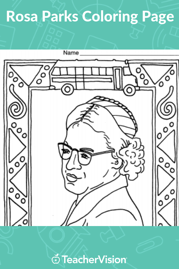 Rosa Parks Coloring Page In 2021 Rosa Parks Coloring Pages Coloring Books