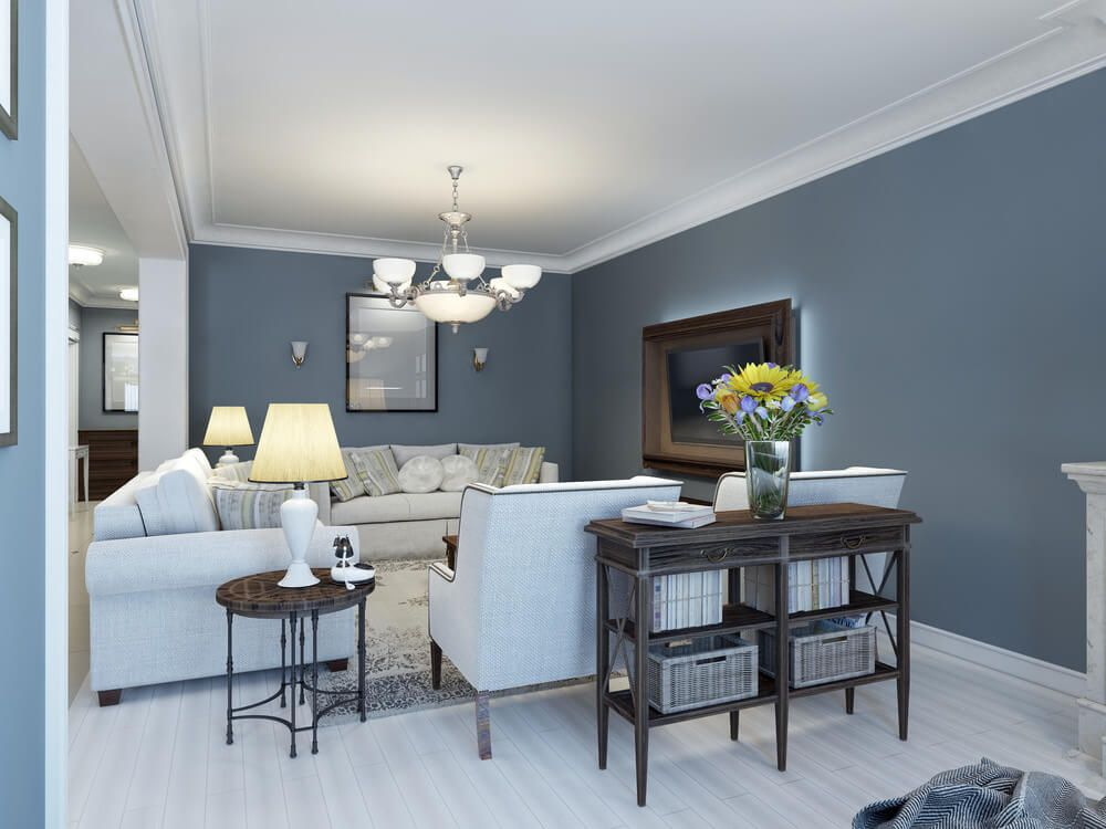 best living room colors and color combinations blue grey on paint ideas for living room walls id=84669