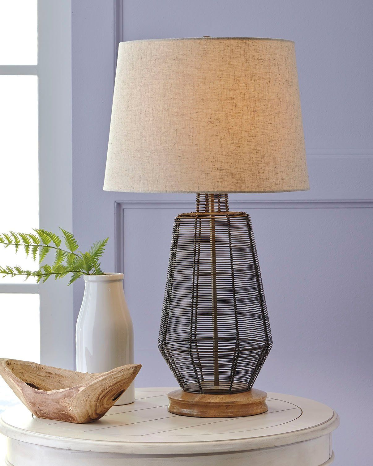 Signature Design By Ashley L207114 Artie Table Lamp Natural Continue To The Product At The Image Link This Is An Affi Natural Table Lamps Lamp Table Lamp