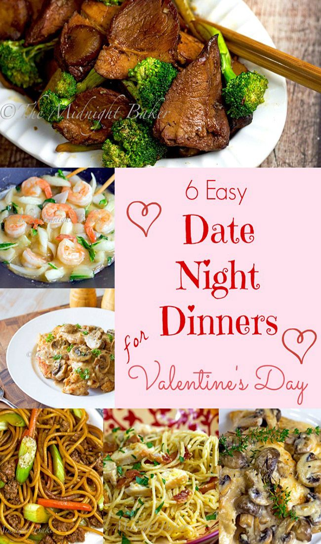 6 easy date night dinners for valentines day